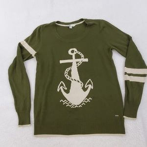 Volcom Sweater L 14 Anchor Nautical Green White St